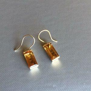 Jewelry - Citrine earrings. 14k over sterling